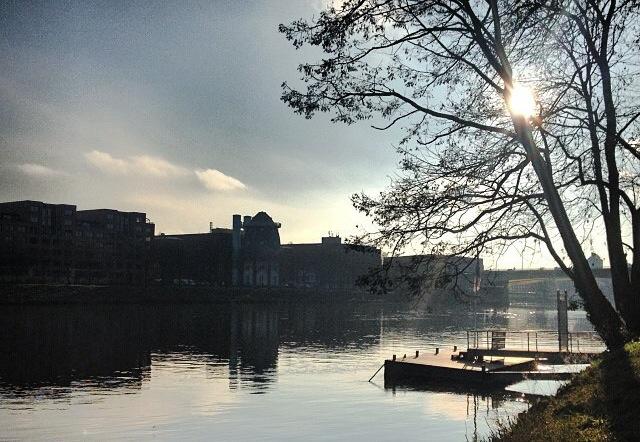 On the water… Maasboulevard, Maastricht