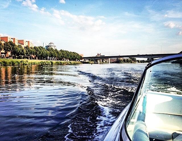 On the water… Maas, Maastricht